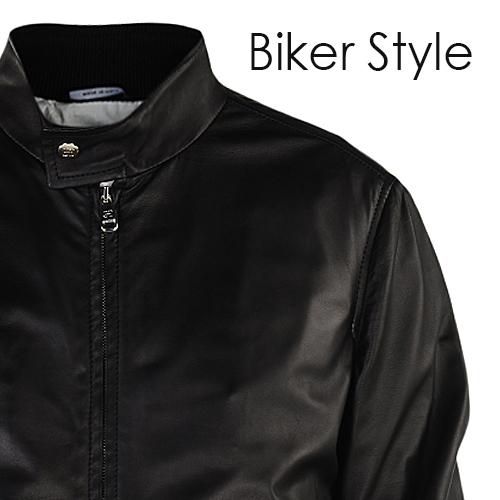 quality design f42e7 ce7e5 Giubbotto pelle stile biker