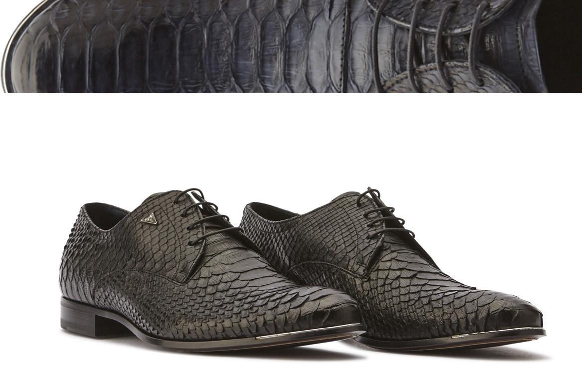 scarpe in pitone uomo