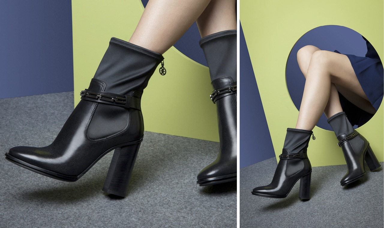 MID-LENGTH BOOTS WITH HI-TECH FABRIC BOOTLEG