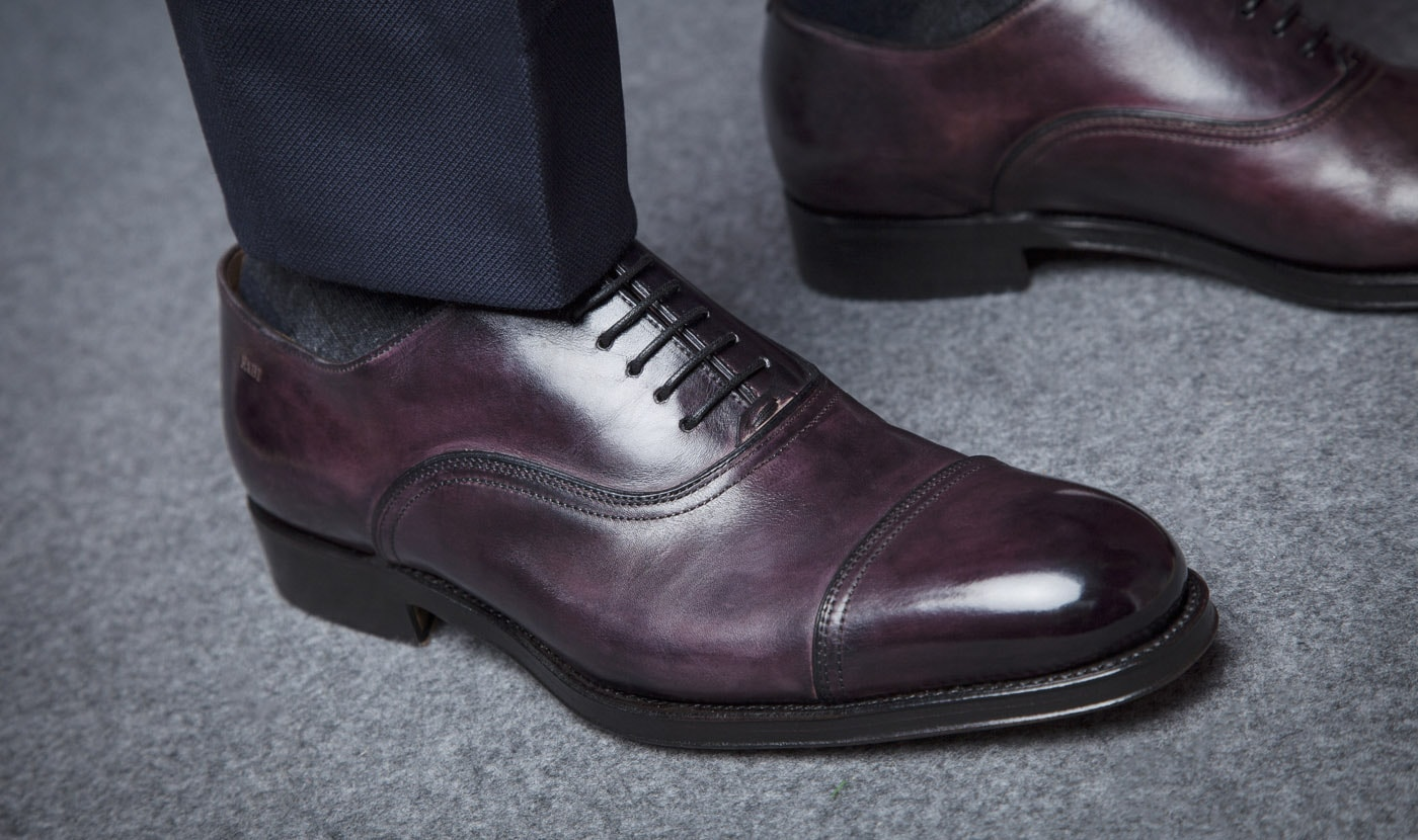 BROGUE FLEX GOODYEAR IN COLOR AUBERGINE ANTICATO