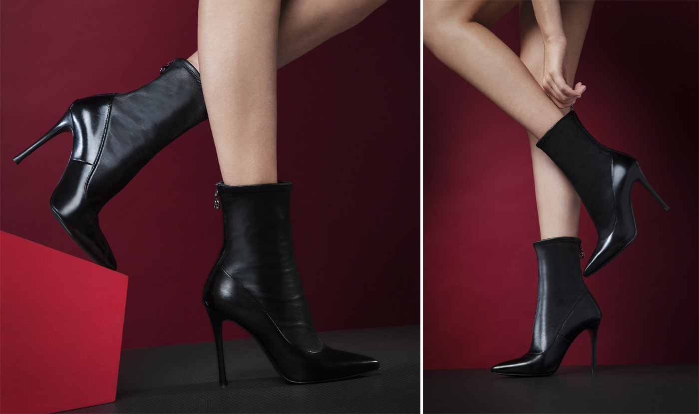 DEMI BOOT STRETCH CON TACCO STILETTO