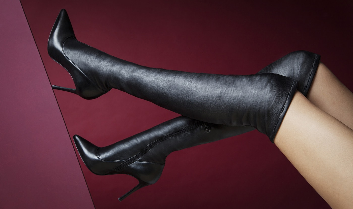 ULTRA-SOFT STRETCH NAPPA LEATHER OVER-THE-KNEE BOOTS