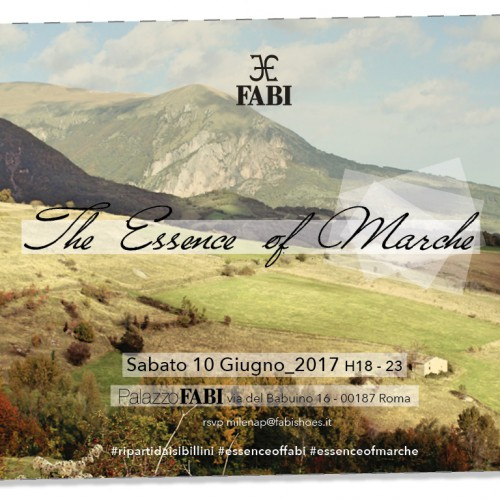"Sabato a Roma ""The Essence of Marche"""