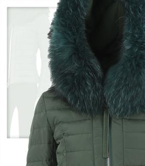 new product 214ee 42927 Piumino collo pelliccia