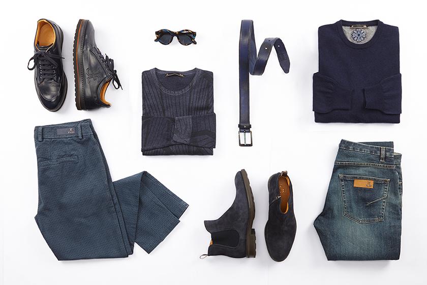 scarpe di separazione promozione speciale gamma molto ambita di Scarpe blu uomo abbinamenti