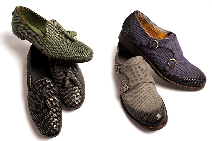 the latest 08a6e f1d6b Moda uomo P/E 2015: scarpe in pelle intrecciata